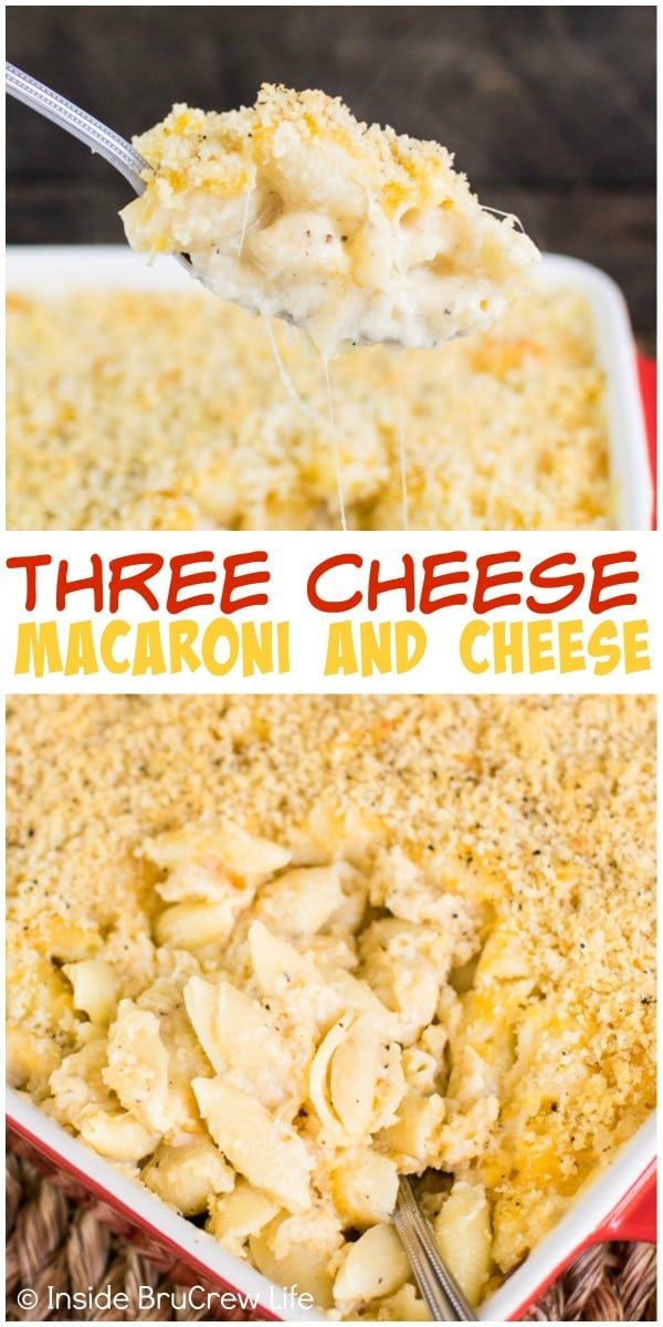 Homemade macaroni and cheese with three kinds of cheese will make ...