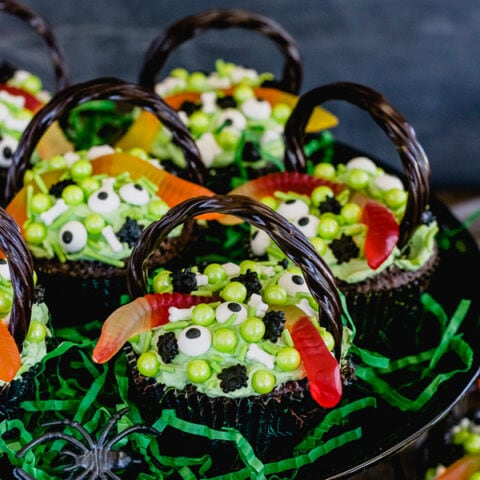 Witch's Cauldron Brownie Cupcakes