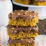 Pumpkin Nutella Oatmeal Bars