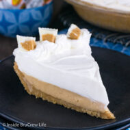 White Chocolate Peanut Butter Pudding Pie
