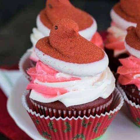 Red Velvet Peppermint Cupcakes