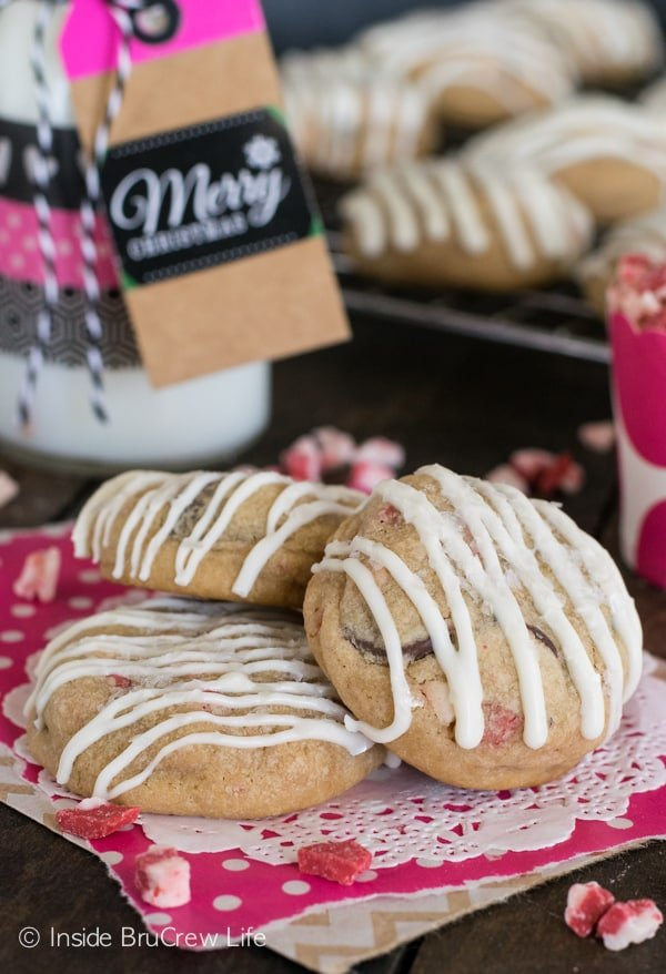 Peppermint and white chocolate turn this easy cookie into a Christmas treat. Perfect for those holiday cookie trays.