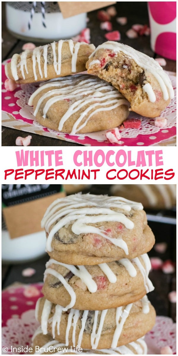 These White Chocolate Peppermint Cookies are loaded with plenty of holiday flavor. Great cookie for cookie exchanges and swaps!