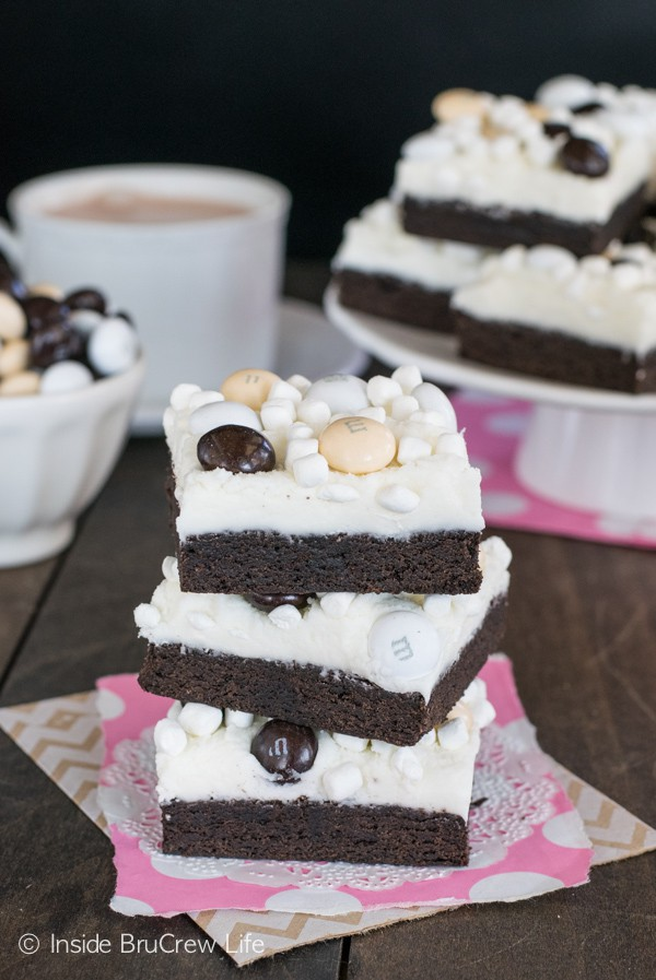 Mocha Hot Chocolate Cookie Bars - easy cookie bars made and frosted in one pan