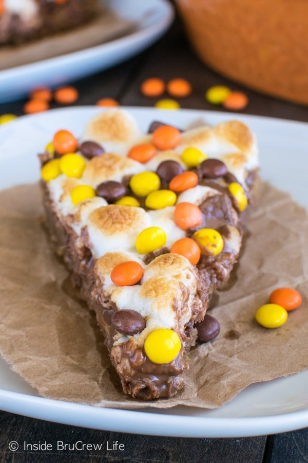 Three kinds of Reese's makes this Reese's S'mores Cookie Pizza a dessert recipe you need to make!