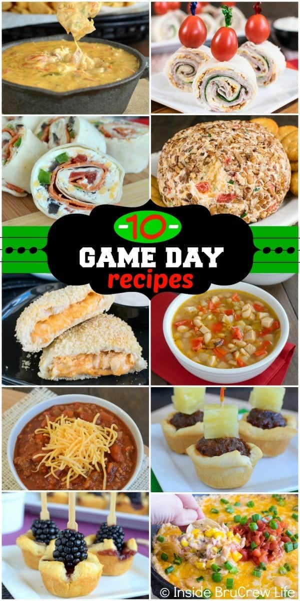 These 10 Best Game Day Recipes are tried and true favorites. Perfect appetizer recipes to serve at game day parties!