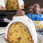 Banana Butterfinger Bundt Cake