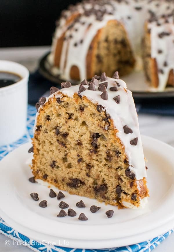 Java Chip Bundt Cake - this easy cake is loaded with coffee and chocolate flavors. Great dessert recipe!