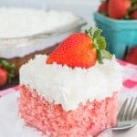 Strawberry Coconut Poke Cake