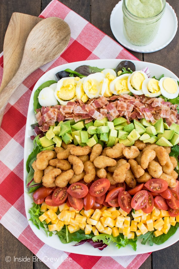 Avocado Shrimp Cobb Salad - this easy salad is perfect for lunch or dinner.