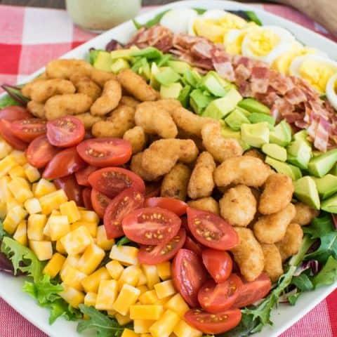 Avocado Shrimp Cobb Salad