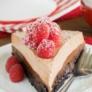 Raspberry Nutella Brownie Cake