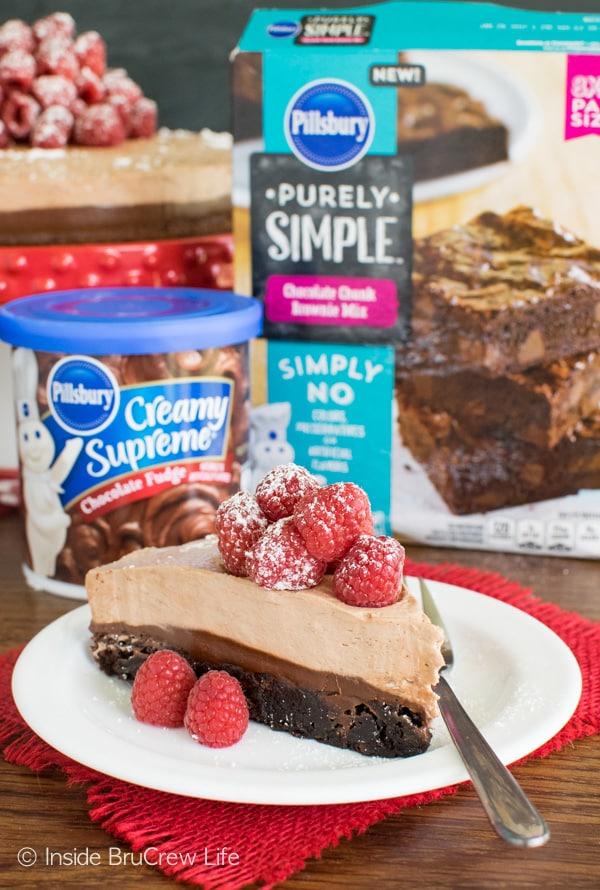 Raspberry Nutella Brownie Cake