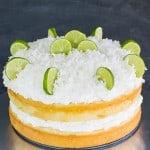 Coconut Key Lime Rum Cake
