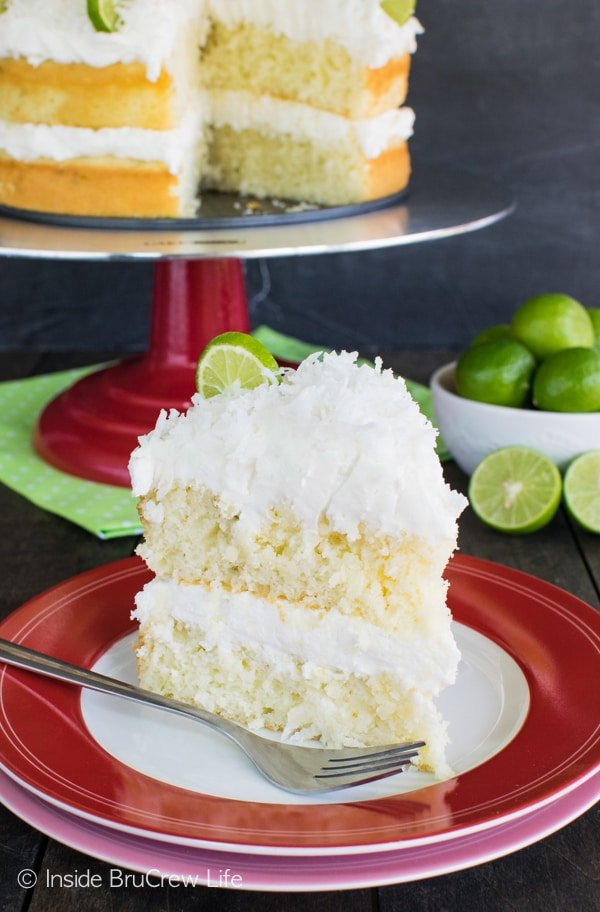 Drizzling this Coconut Key Lime Rum Cake with a citrus rum butter glaze makes it amazing! Great summer dessert recipe!