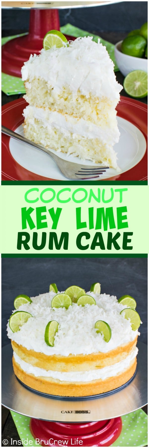 Coconut Key Lime Rum Cake - coconut frosting and a rum butter glaze ...