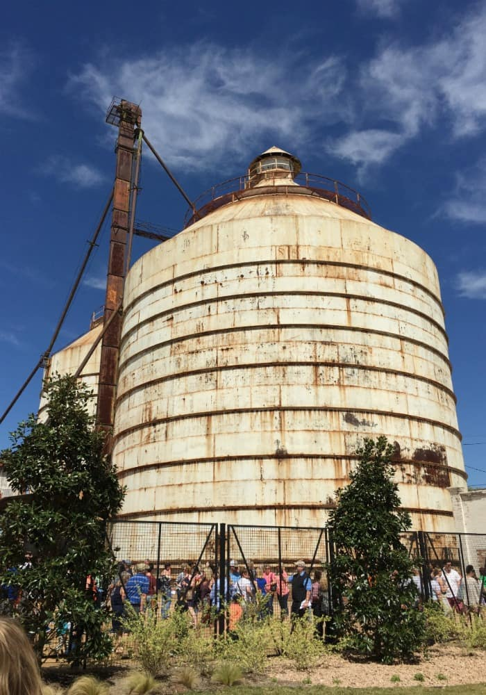 Silos at Magnolia Market in Waco, Texas