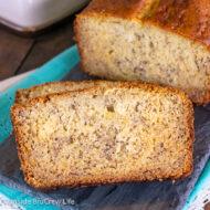 Sour Cream Banana Bread {Moist and Fluffy}