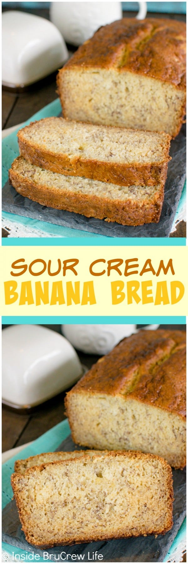 Sour Cream Banana Bread - this easy banana bread is perfect for those ...