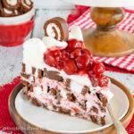 No Bake Cherry Swiss Rolls Cake