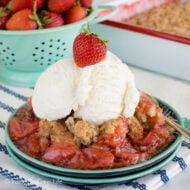 Easy Strawberry Cobbler