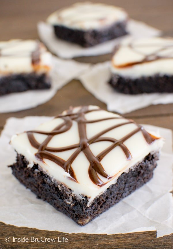 Zebra Brownies - chocolate zebra stripes add a fun flair to these homemade brownies! Awesome dessert recipe!