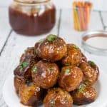 Honey Sriracha Barbecue Meatballs