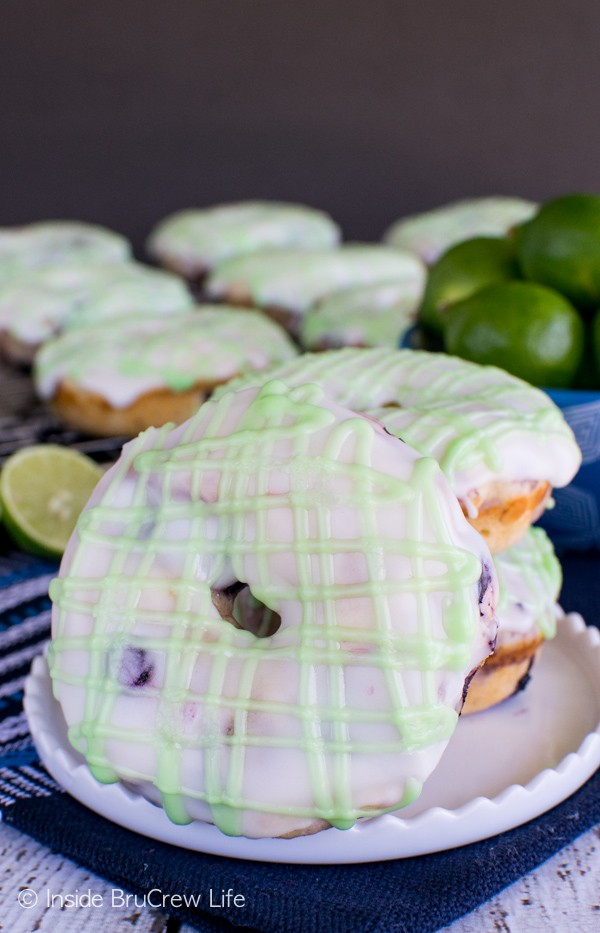 Blueberry Key Lime Donuts - two times the key lime juice makes these ...