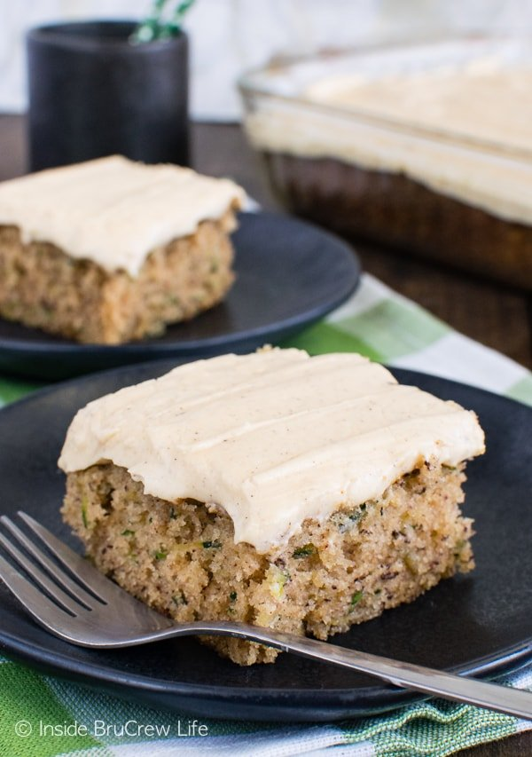 Zucchini Banana Cake - this soft and amazing cake is the perfect way to use up those veggies! Great dessert recipe!
