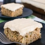 Zucchini Banana Cake with Caramel Frosting