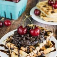 Cherry Chocolate Chip Waffles