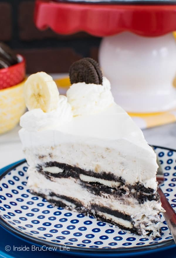 Oreo Banana Cream Icebox Cake