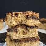 Banana Nutella Blonde Brownies