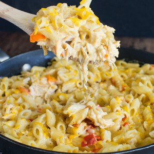 Cheesy Chicken Pasta – an easy 30 minute dinner idea!