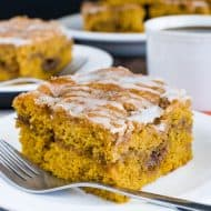 Cinnamon Roll Pumpkin Cake
