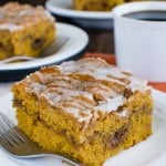 Cinnamon Roll Pumpkin Cake