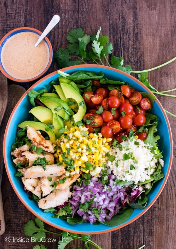 Mexican street corn chicken salad inside brucrew life mexican street corn chicken salad forumfinder Images