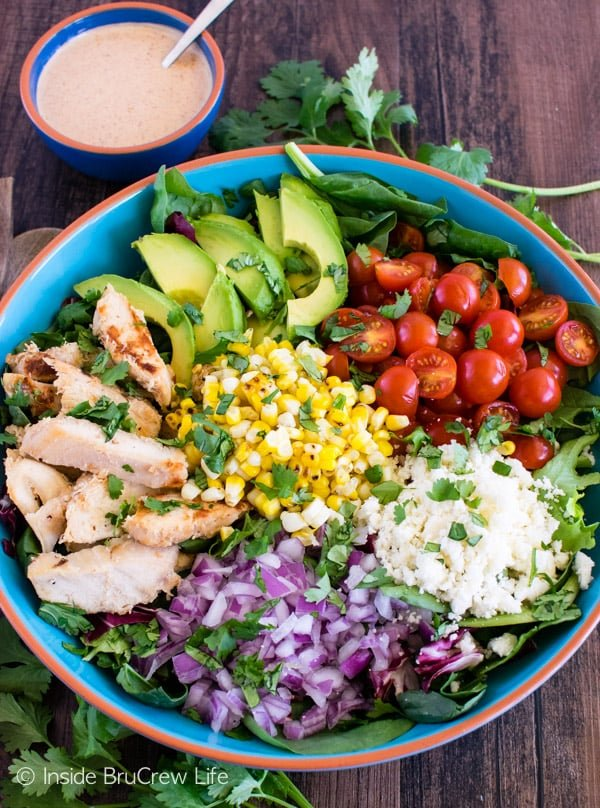 Mexican Street Corn Chicken Salad - Inside BruCrew Life