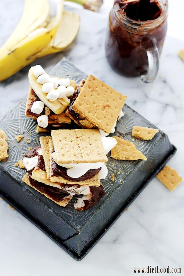 Peanut Butter Chocolate Banana S'mores