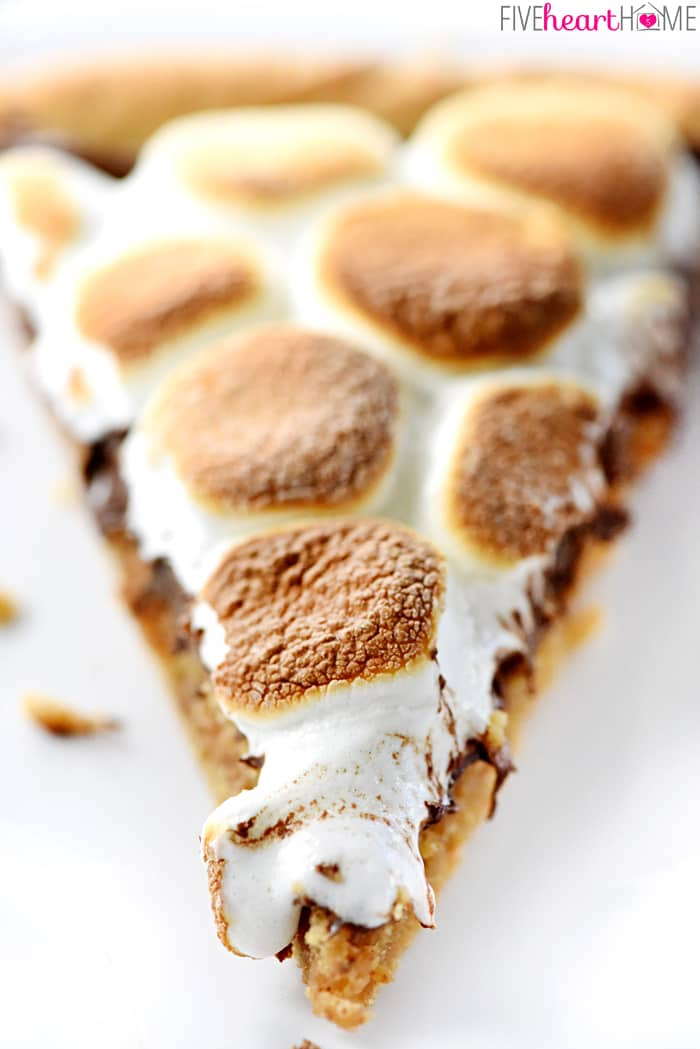 Peanut Butter Cookie S'mores Dessert Pizza