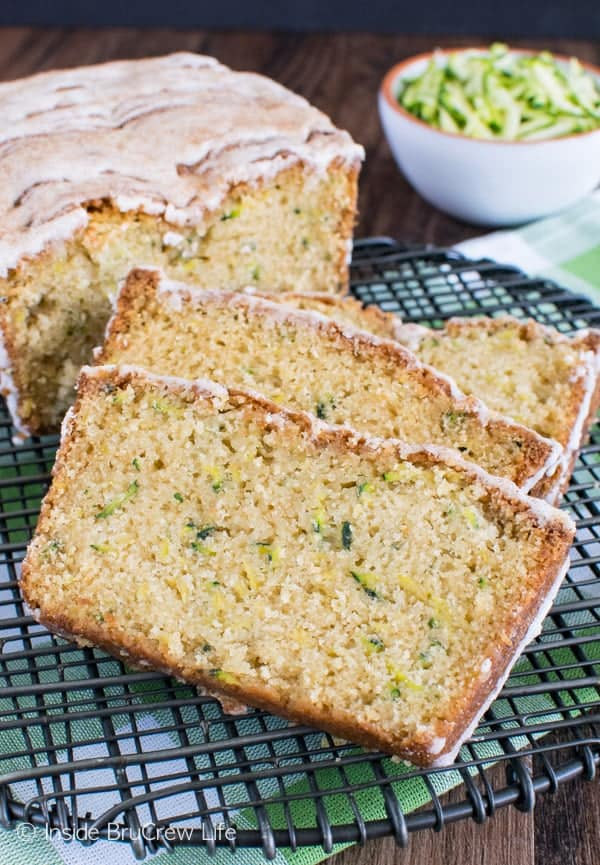 Pineapple Zucchini Bread - a tropical flair makes this sweet bread disappear in a hurry. Great breakfast recipe to use up those veggies!