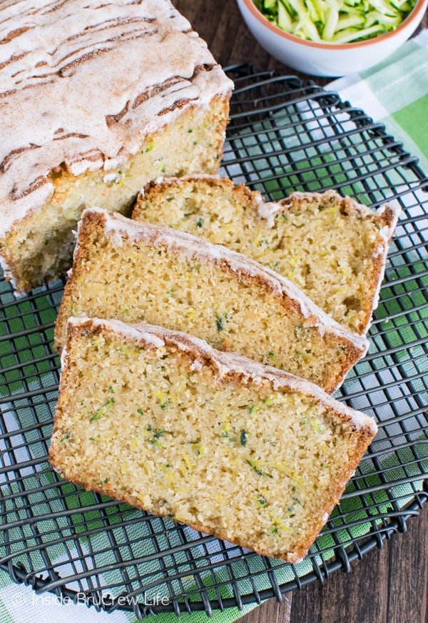 Shredded pineapple adds a fun tropical flair to this Pineapple Zucchini Bread. This is a great sweet bread recipe!
