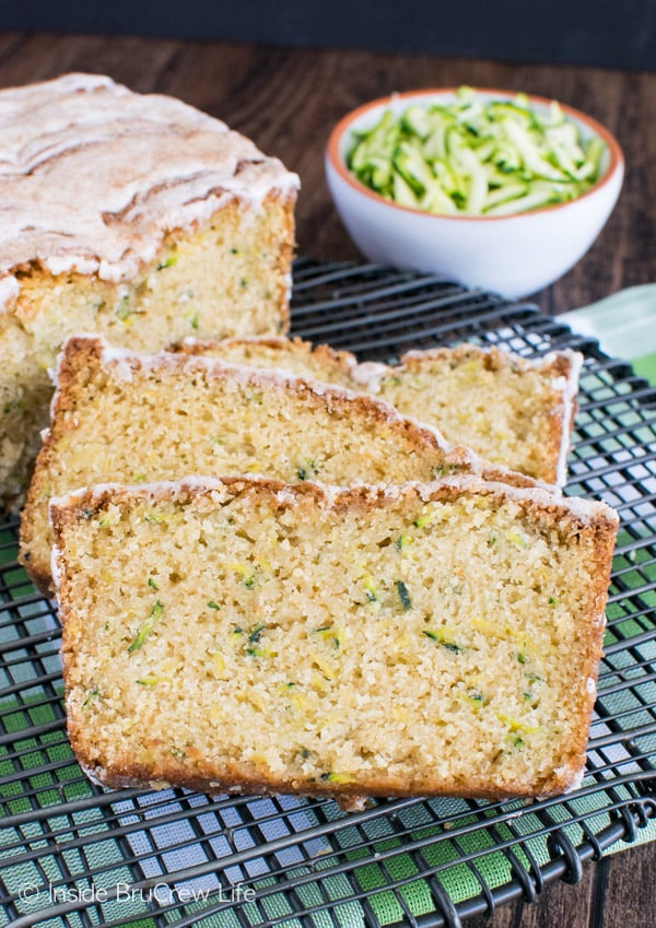 Pineapple Zucchini Bread - a tropical fruit flavor gives this easy sweet bread recipe a fun twist!