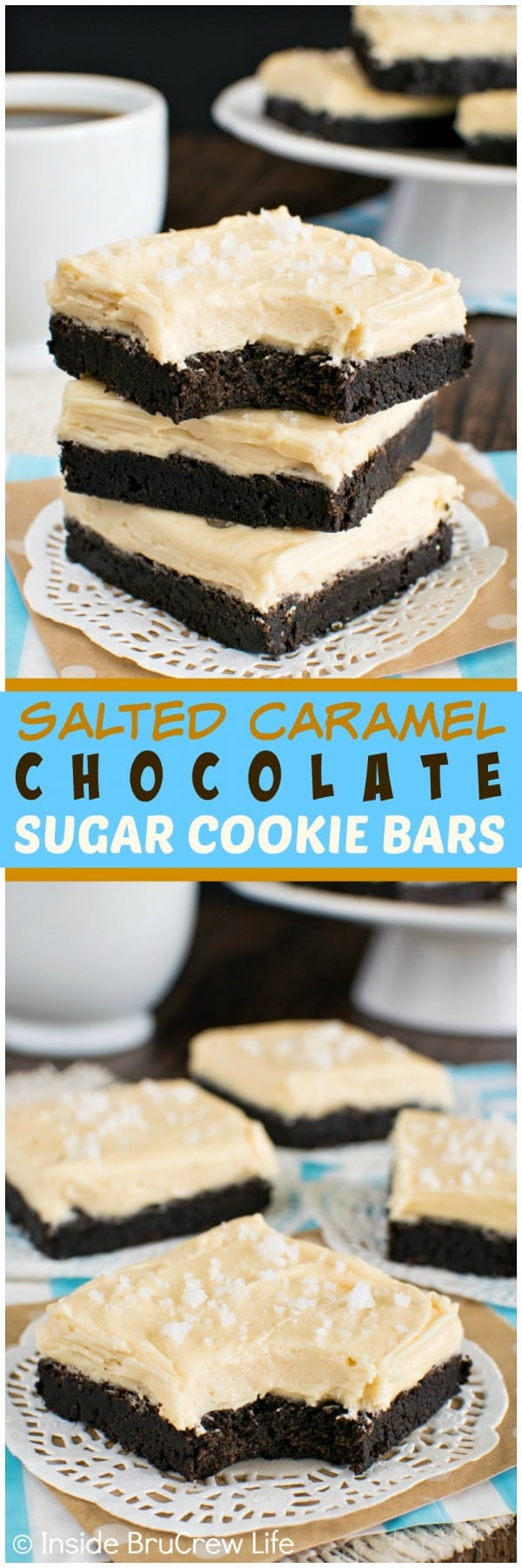 Salted Caramel Chocolate Sugar Cookie Bars