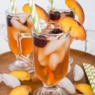 Sparkling Blackberry Peach Tea