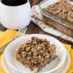 Chocolate Chip Banana Streusel Baked Oatmeal