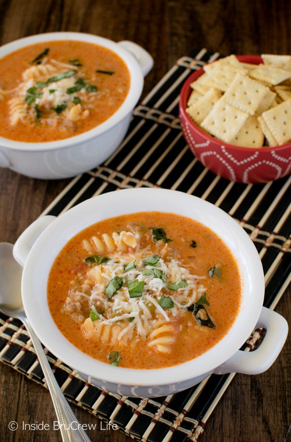 Creamy Italian Tomato Soup - easy comfort food recipe that is ready in just under 30 minutes