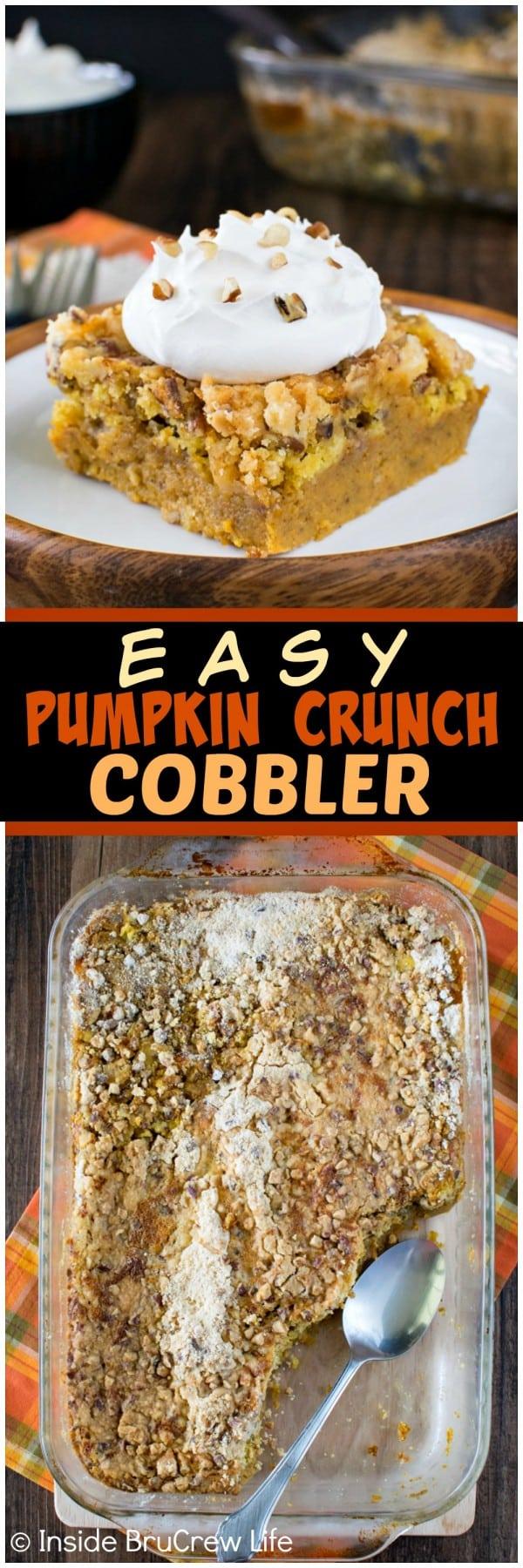 Pumpkin Crunch Cobbler - a crunchy streusel topping and creamy pumpkin ...