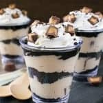 No Bake Peanut Butter Fudge Cheesecake Parfaits