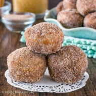 Cinnamon Sugar Apple Donut Holes
